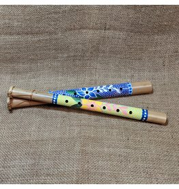 Ten Thousand Villages CLEARANCE Floral Bamboo Flute, Indonesia