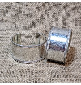 Ten Thousand Villages Silver Embossed Bangle