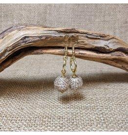 Ten Thousand Villages Brass & Jute Drop Earrings, India
