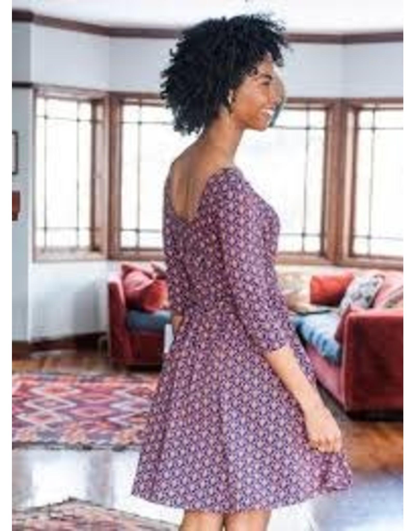 Novela Dress, Plum