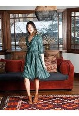 Callie Wrap Dress, Teal