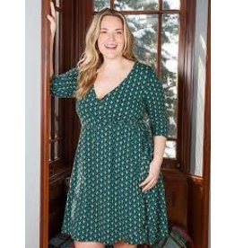 CLEARANCE Callie Wrap Dress, Teal