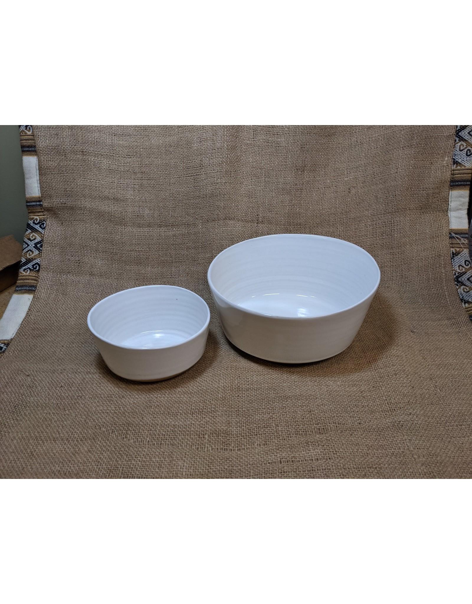Ten Thousand Villages Soft Cloud Ceramic Bowl (Small). Nepal