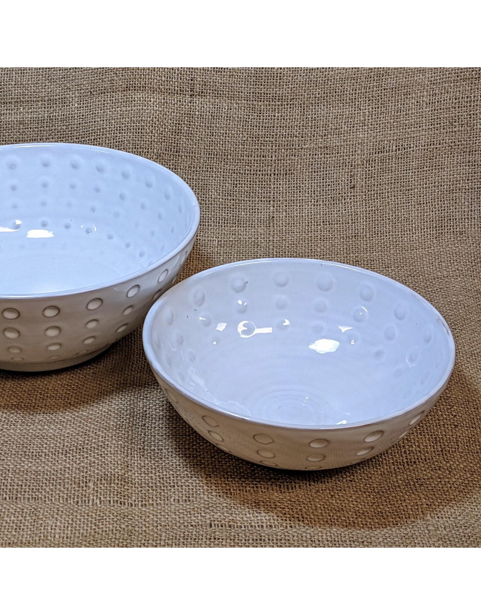 Ten Thousand Villages White Stoneware Bowl (Small). Nepal