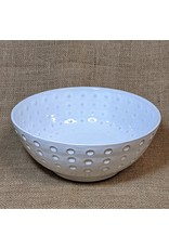 Ten Thousand Villages White Stoneware Bowl (Medium), Nepal