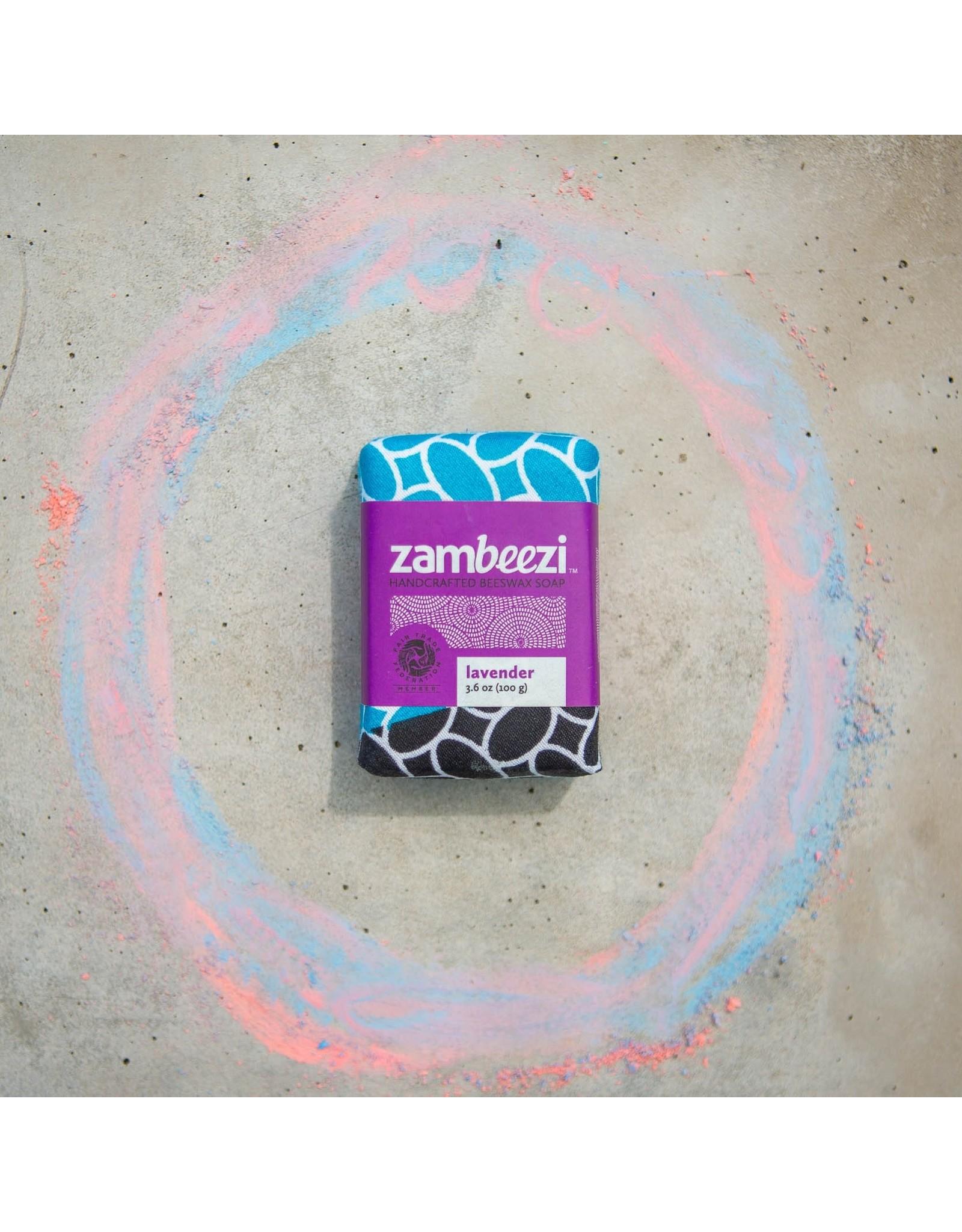 Zambeezi Lavender Beeswax Soap, 100g. Zambia