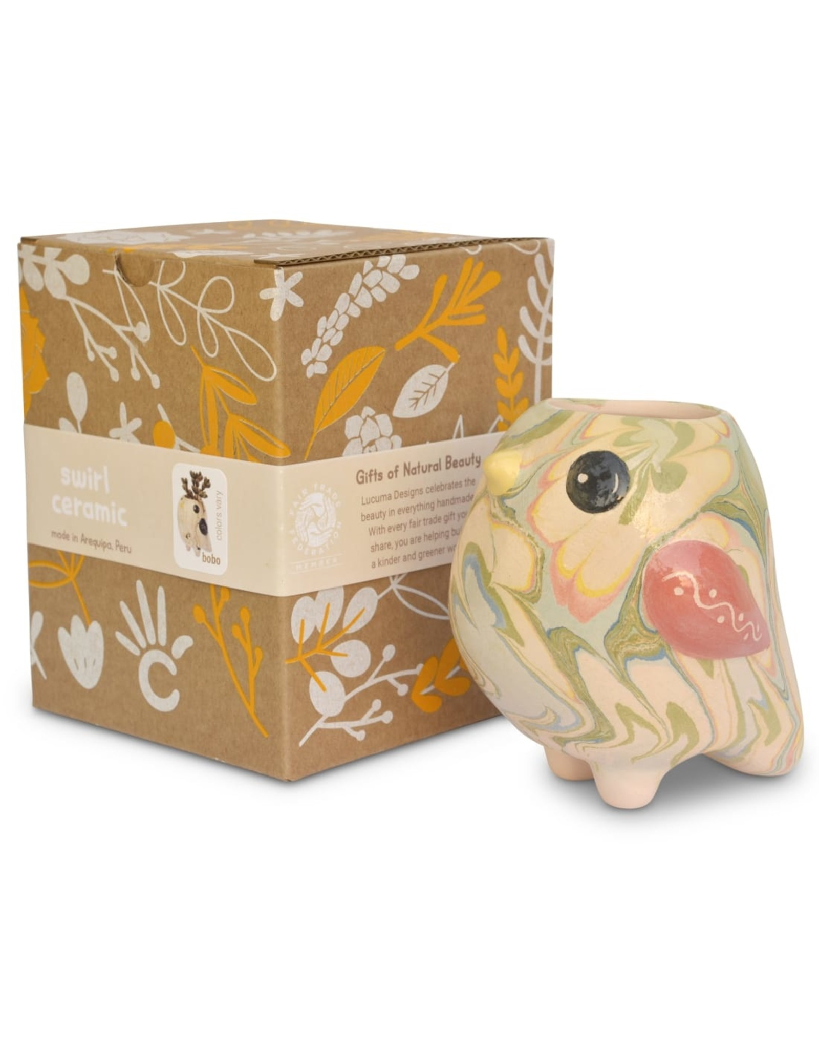 Lucuma Swirly Bird Mini Pot