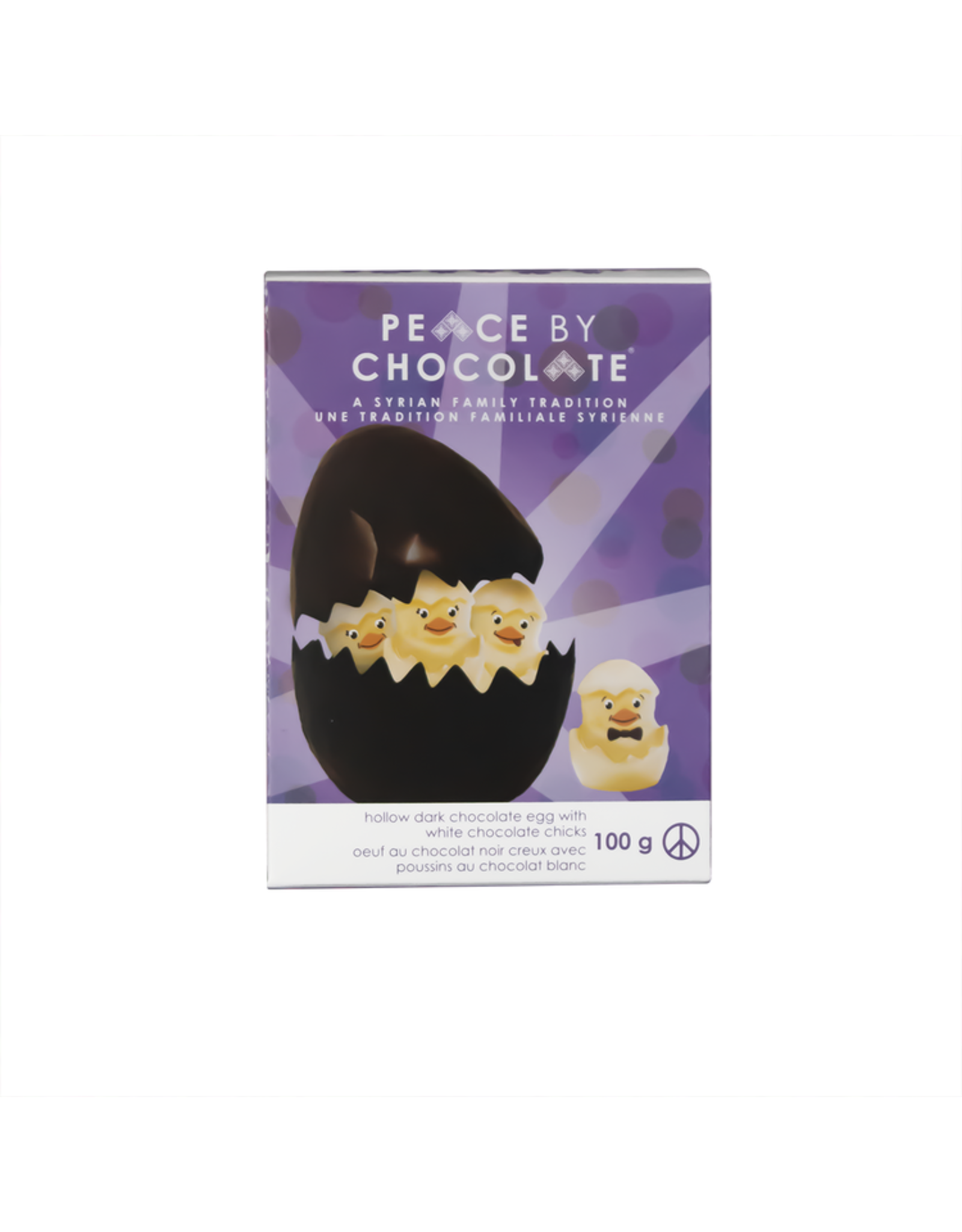 Peace by Chocolate Easter Egg with Chicks