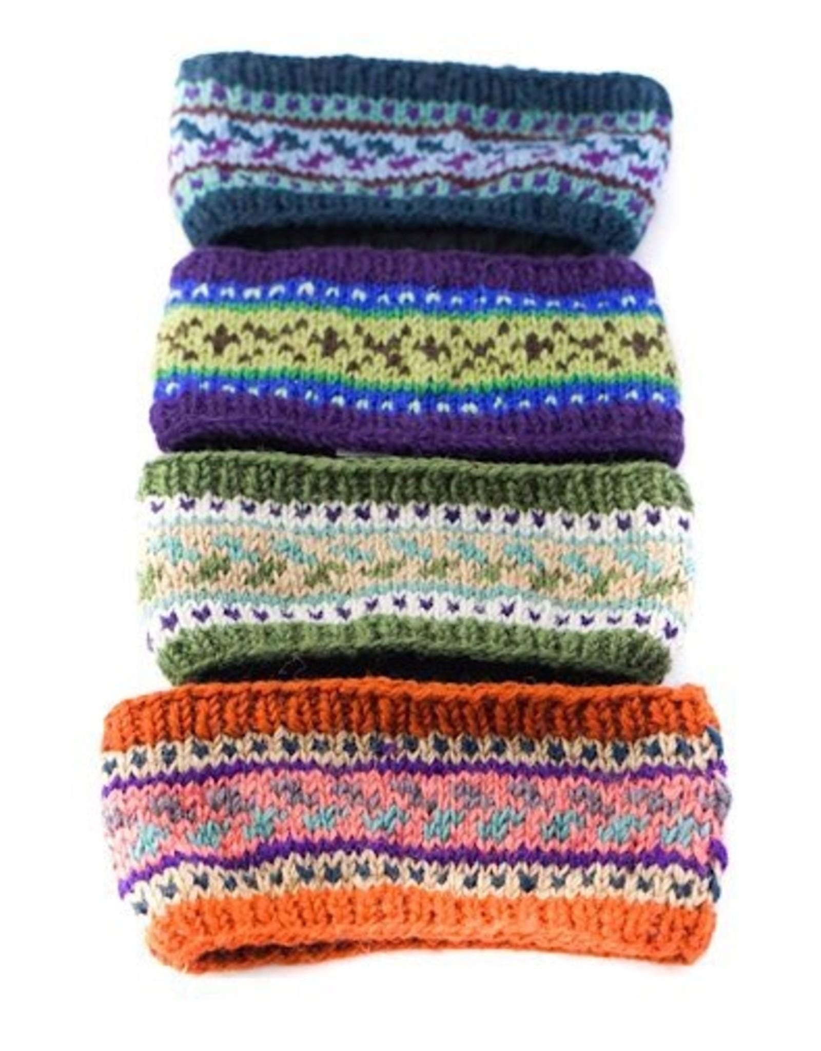 Ganesh Himal Patterned Knit Headband, assorted. Nepal