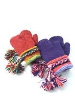 Ganesh Himal Knit Wool Mitten w/ Braid Cuff, assorted. Nepal.