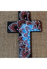 Ten Thousand Villages Red Wooden Cross
