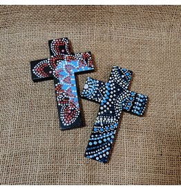 Ten Thousand Villages Red Wooden Cross