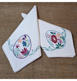 Ten Thousand Villages Easter Egg Napkin - Purple