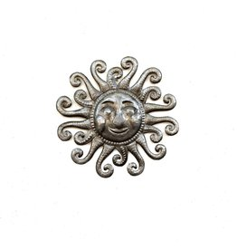 Papillon Small sun, cut metal, Haiti