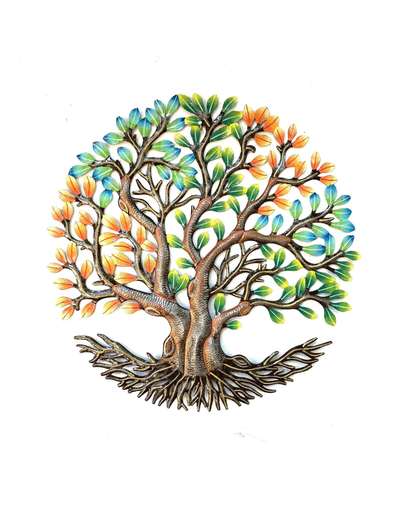 Papillon Fall Tree of Life, cut metal, Haiti