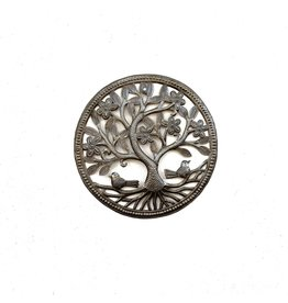 Papillon Small Round Tree w/ Birds, cut metal, Haiti