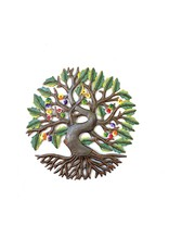 Papillon Colourful Tree of  Life w/ roots, cut metal, Haiti