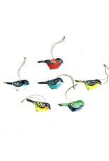 Papillon Little Bird Ornament, Cut Metal, Assorted, Haiti