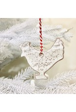 Papillon Farmhouse White Ceramic Ornament, Assorted, Haiti