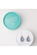 Starfish Project Megan Blue & Gold Agate Earrings, China