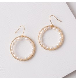Starfish Project Maisie Gold & Pearl Hoop Earrings, China