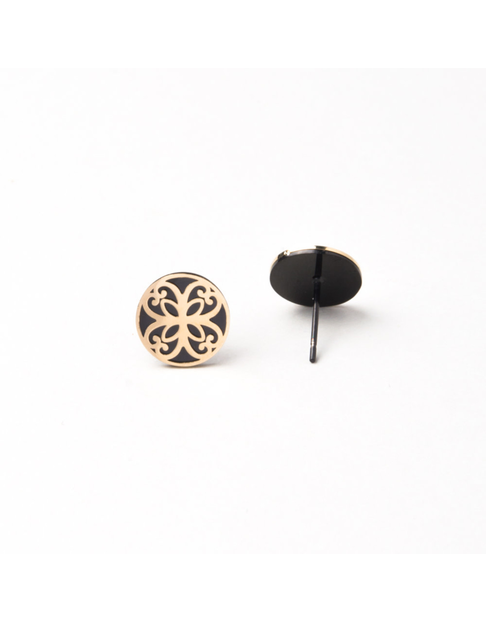 Starfish Project Maile Black Gold Stud earrings, China
