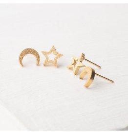 Starfish Project Aurora Gold Stud Set, China