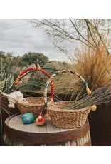 Matr Boomie Sari Handle Harvest Basket. India