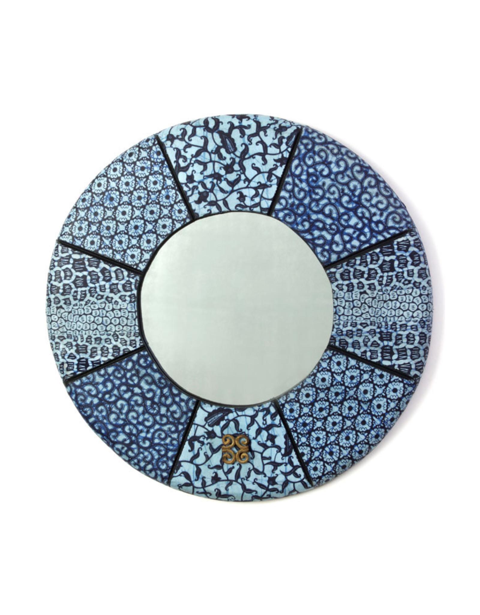"""Swahili Wholesale Bibire Wax Cloth Mirror, 24""""/60cm Ghana"""