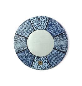"""Swahili Wholesale Bibire Wax Cloth Mirror, 24""""/60cm, Ghana"""