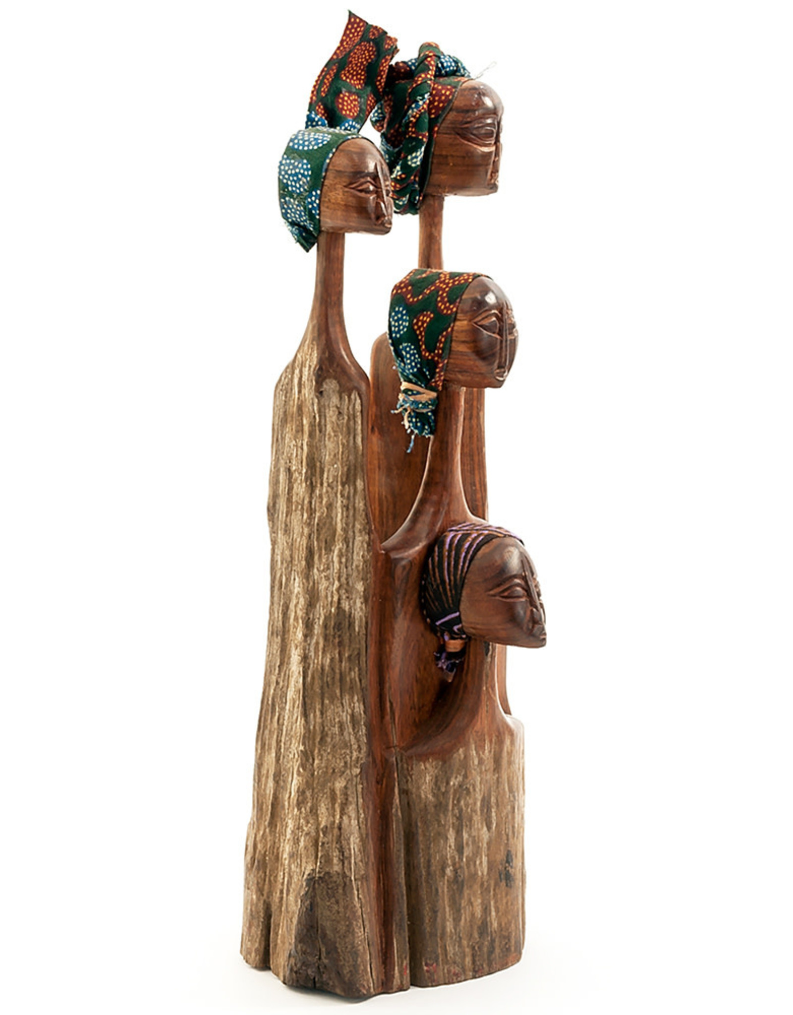 Swahili Wholesale Four Sisters Sandalwood Sculpture, Mozambique