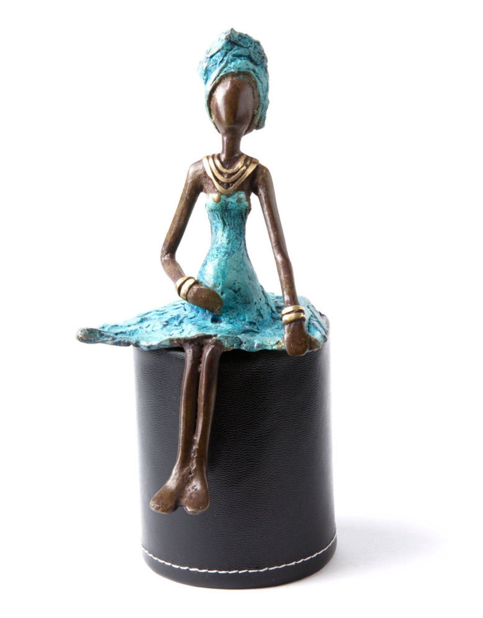 Swahili Wholesale Bronze Expectant Mother Sculpture, Burkina Faso