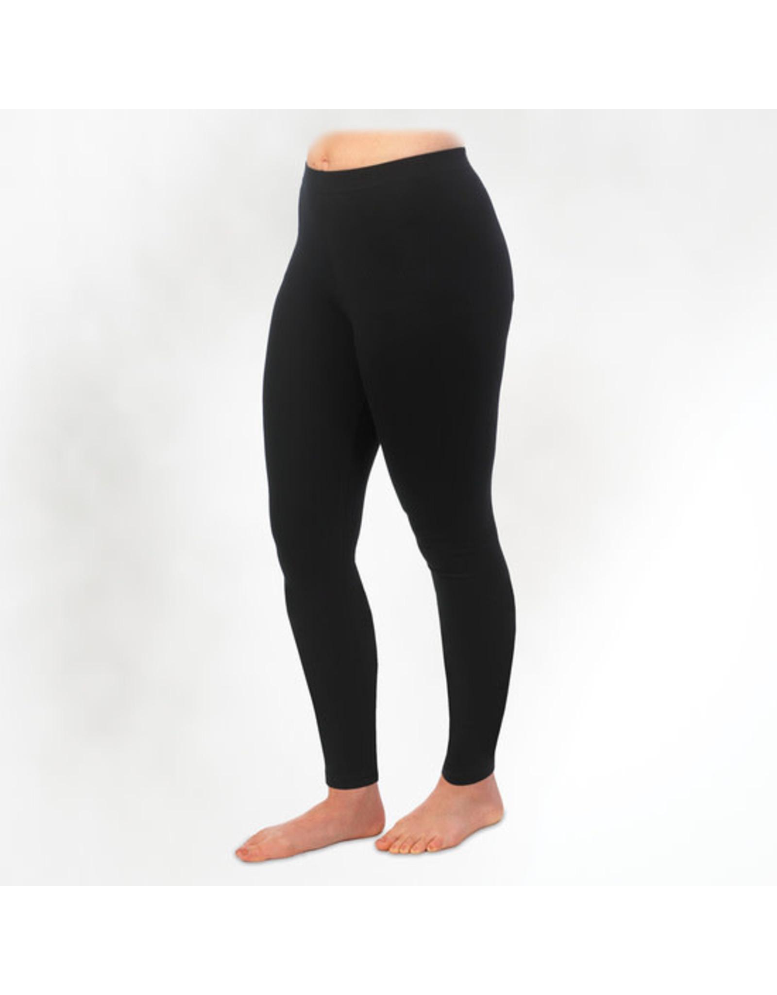 Organic Cotton Ankle Legging, Black.