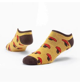 Cotton Footie Sock, Mushroom.