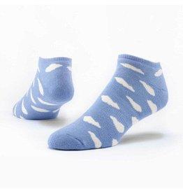 Cotton Footie Socks, Clouds