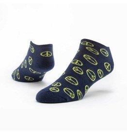 Cotton Footie Socks, Peace