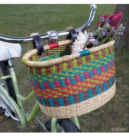 SERRV Rainbow Bike Basket, Ghana