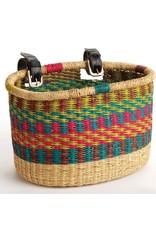 SERRV Rainbow Bike Basket, Ghana