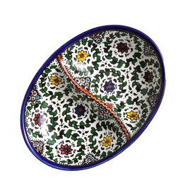 SERRV Blue West Bank Divided Dish, Palestine