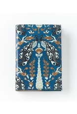 Matr Boomie Fauna Leather Journal, Blue Peacock. India