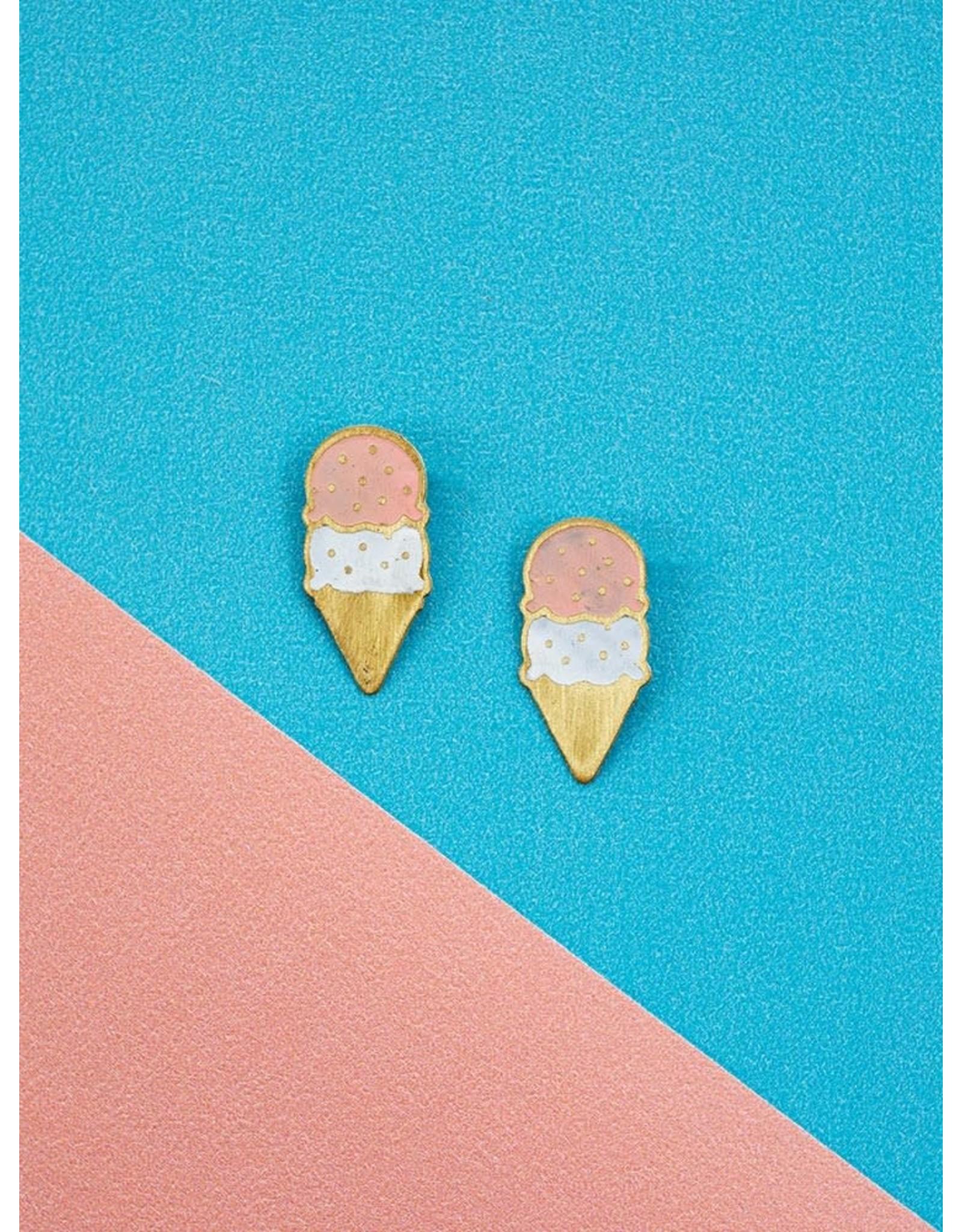 Neapolitan Ice Cream Stud Earrings, India.