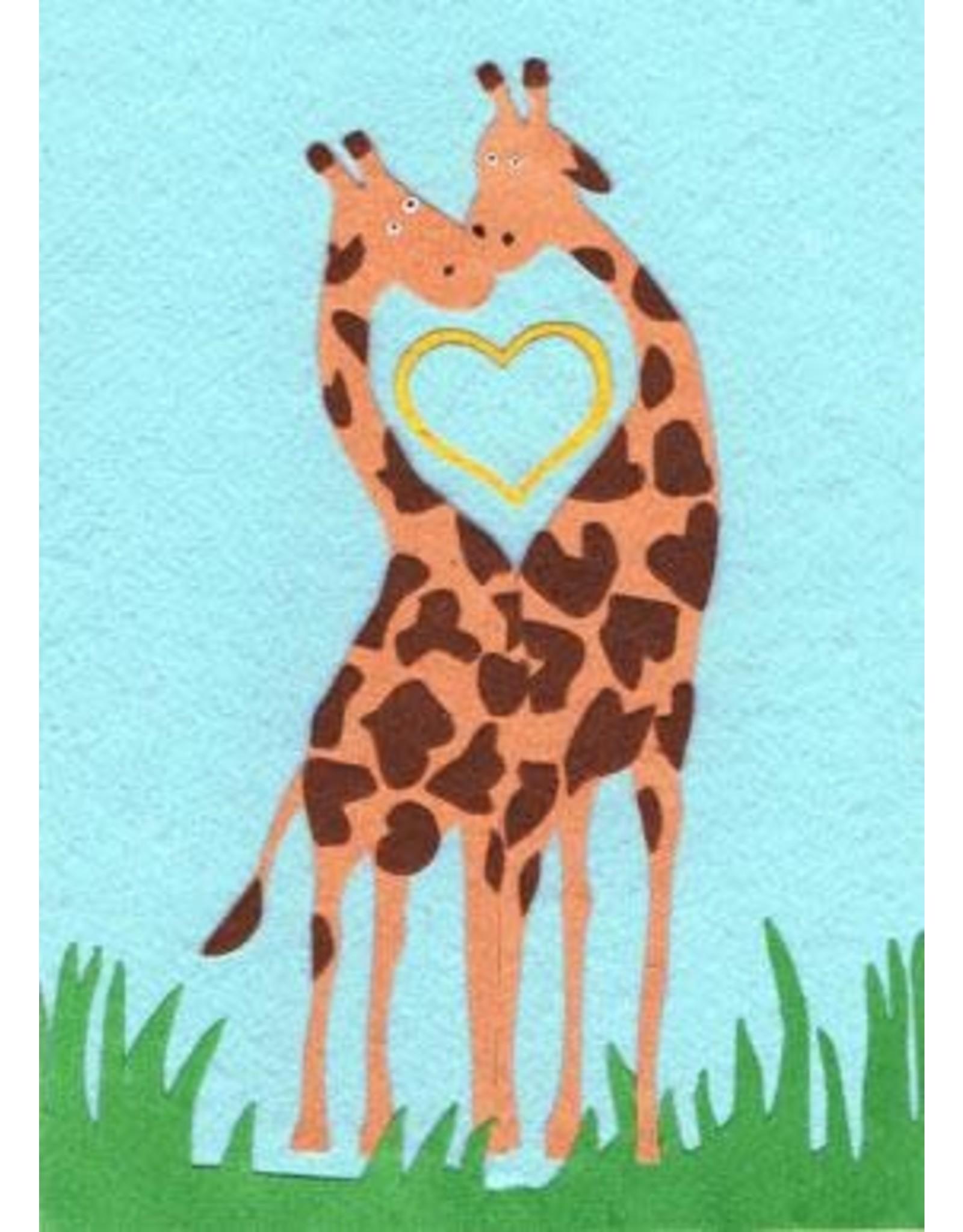 Good Paper Giraffe Love Card, Rwanda