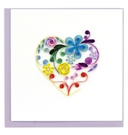 quillingcard Quilled Floral Rainbow Card, Vietnam
