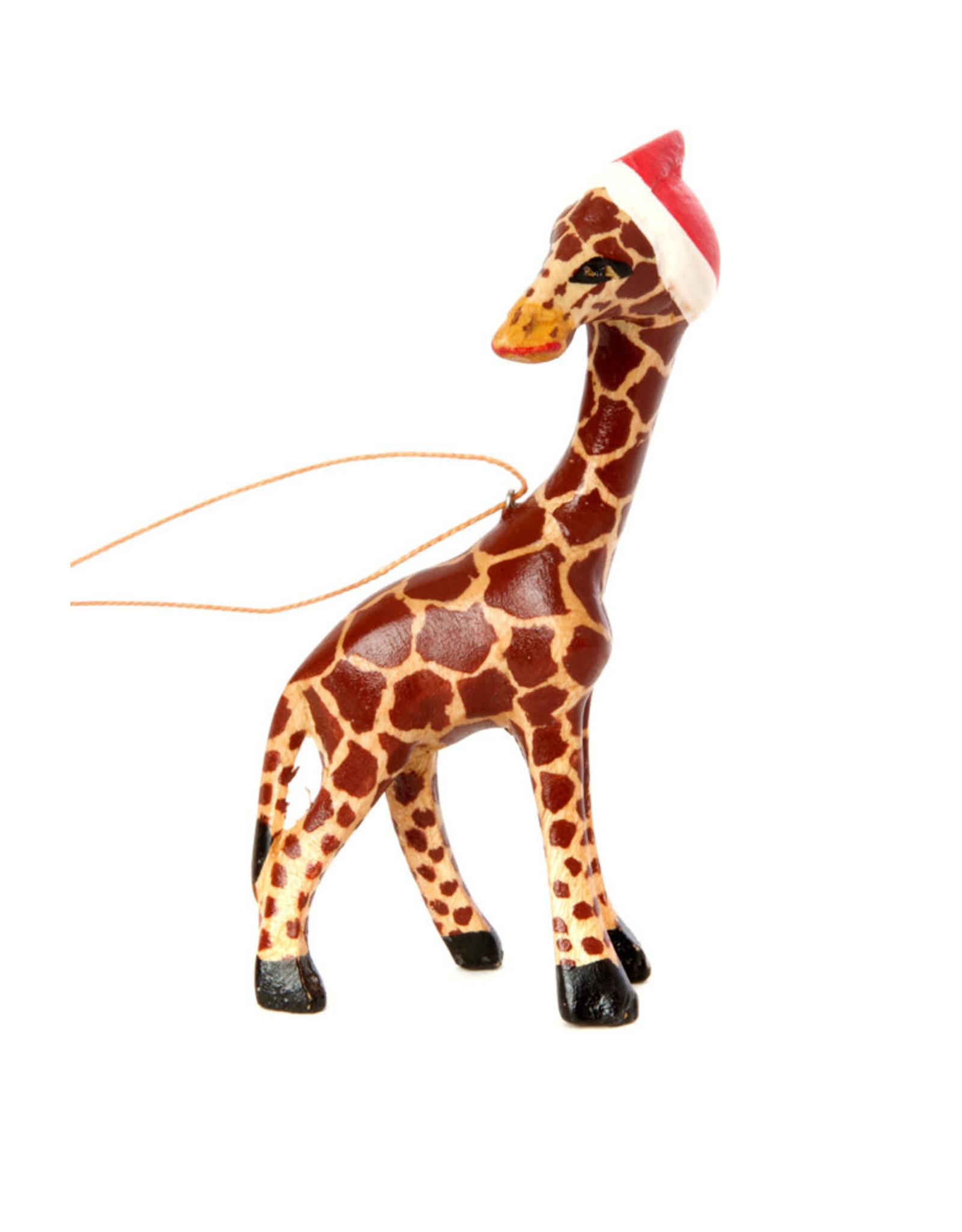 Swahili Wholesale Santa's Little Giraffe Helper Ornament, Kenya