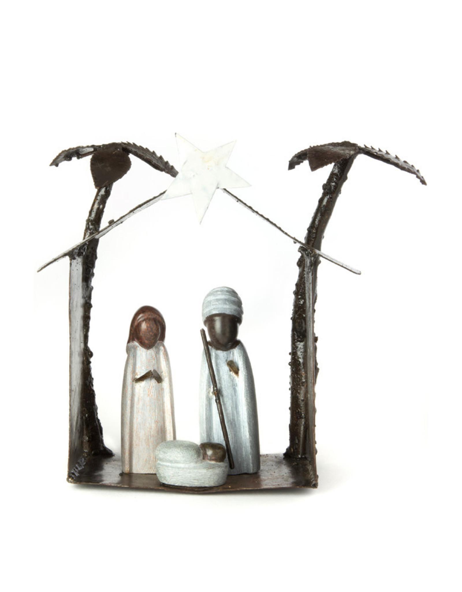 Swahili Wholesale Serpentine Stone & Metal Nativity, Zimbabwe