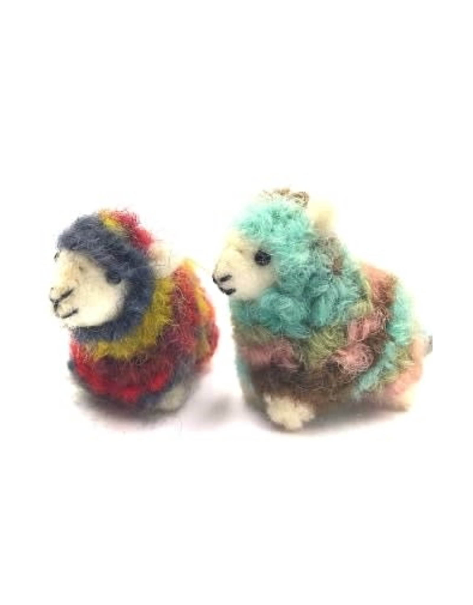 Ganesh Himal Rainbow Mini Sheep Ornament, assorted, Nepal