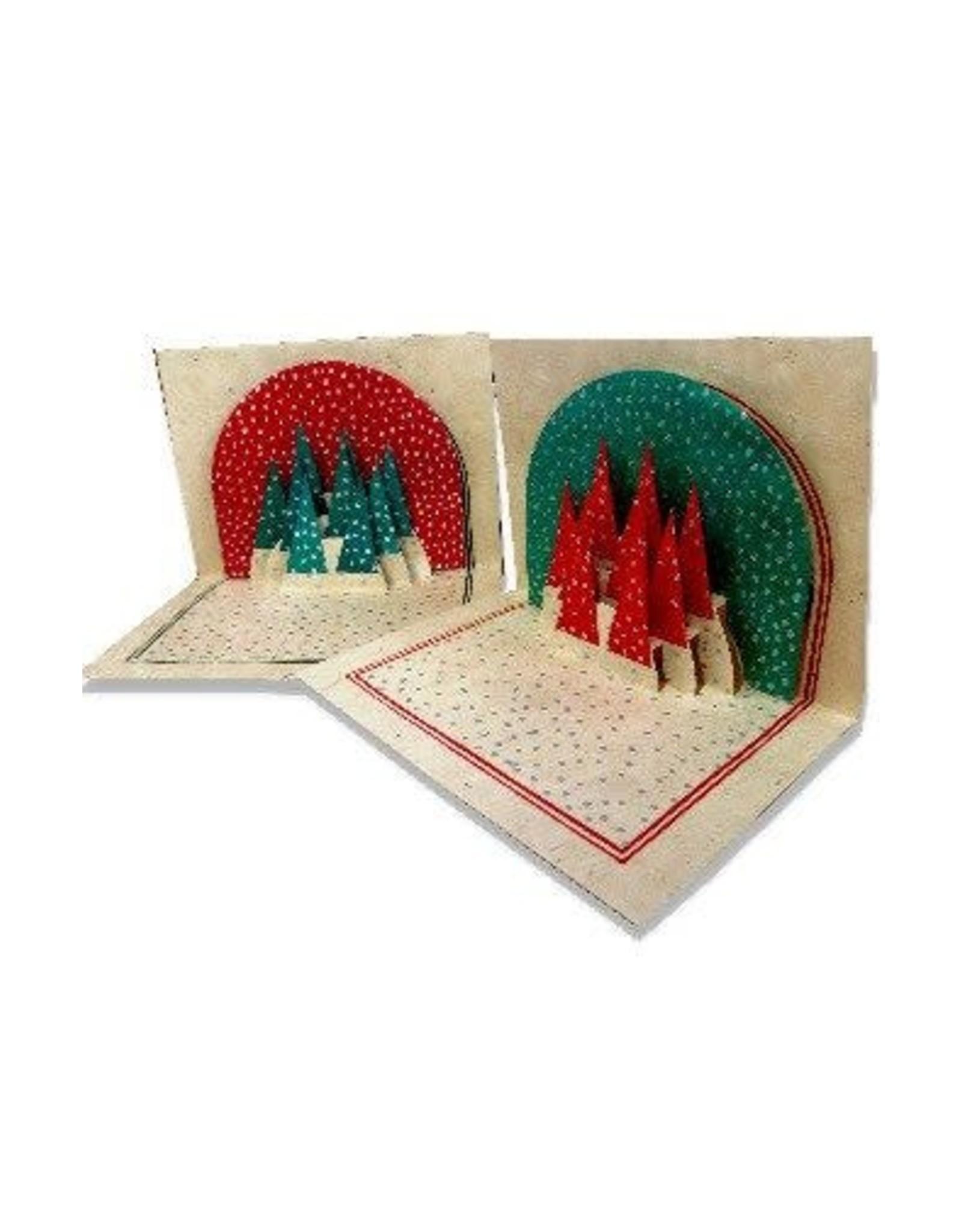 Ganesh Himal Pop up Holiday Tree Card, set of 2, Nepal