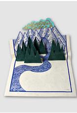 Ganesh Himal Pop Up Mountain card set of 2, Nepal