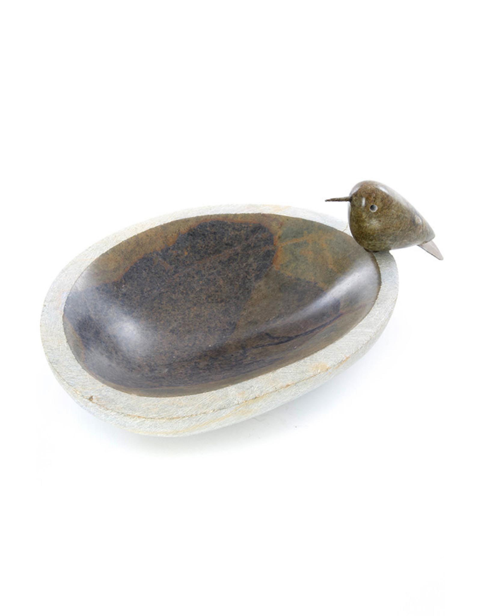 Swahili Wholesale Little Songbird Serpentine Birdbath, Zimbabwe