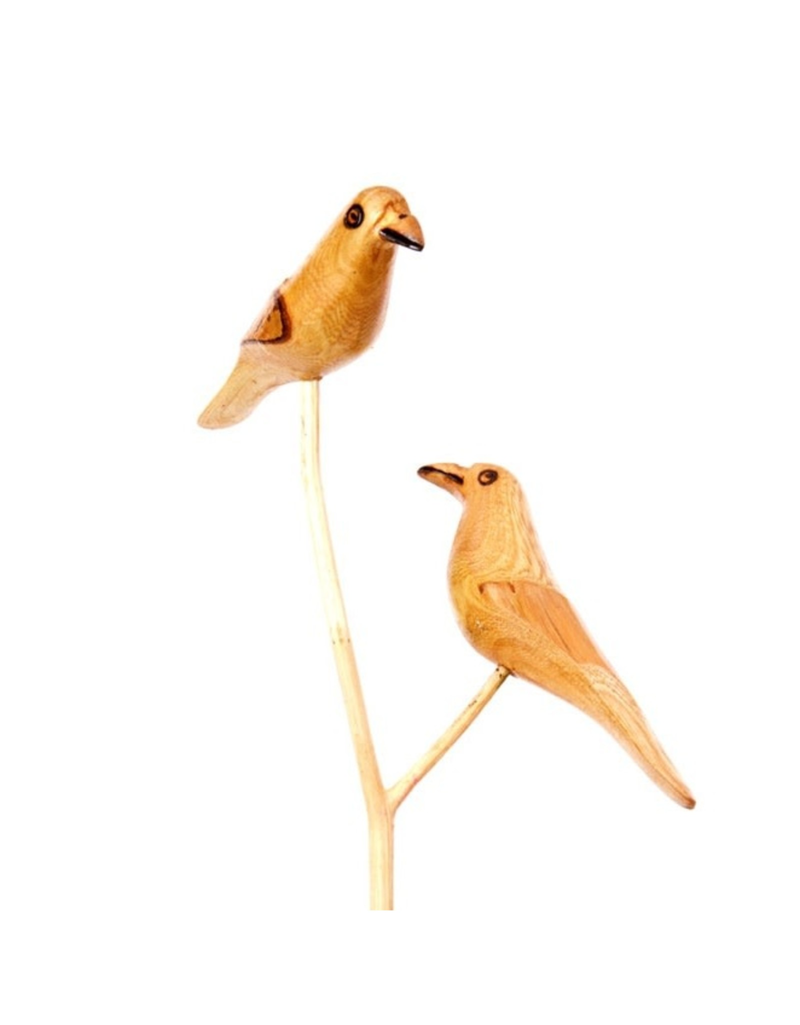 Swahili Wholesale Bird Duo Wooden Garden Stake, Kenya